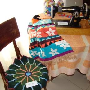 лоскутная накидка на стул