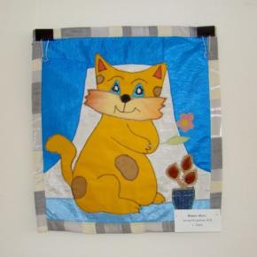 лоскутное панно - кот