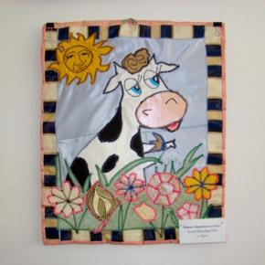лоскутное панно - корова