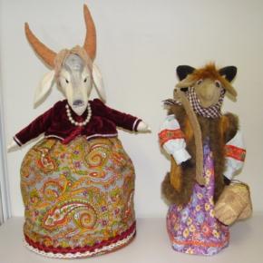 куклы из ткани - коза