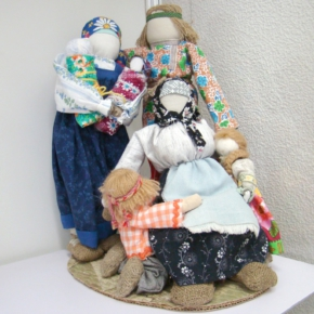 куклы из ткани - семья