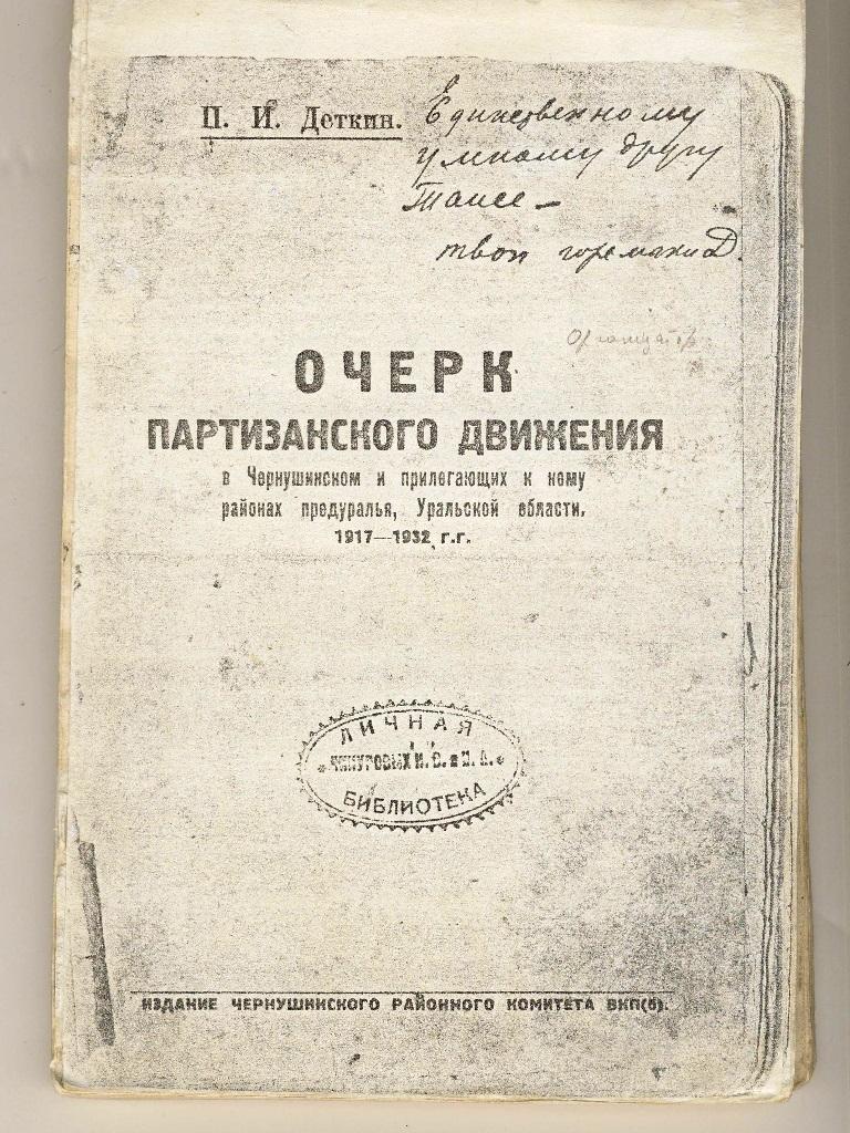 Очерк партизанского движения